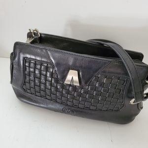 So Rachel for Longaberger black leather purse bag